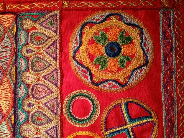 Sally's Indian embroidery