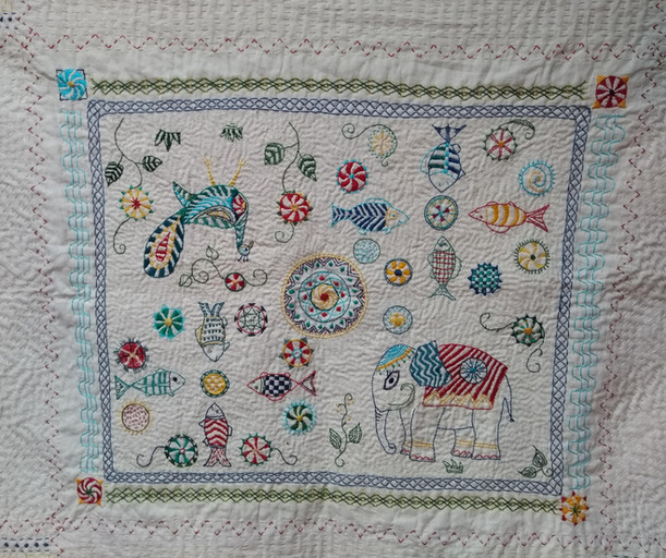 Cathy's kantha work