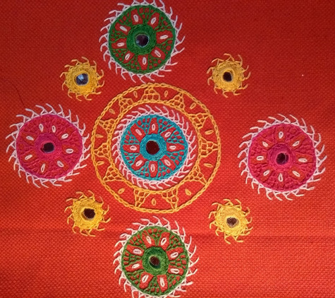 Jacqui's Indian embroidery