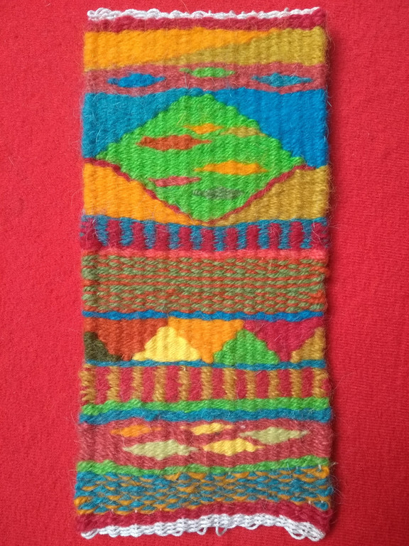 Maggie's tapestry weaving