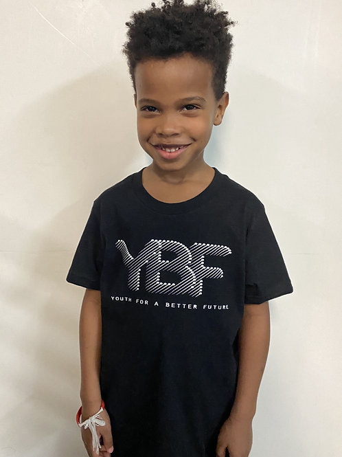 YBF LOGO/BLACK HISTORY MATTERS tee. (Created by YBF Youth, Adult sizes avail $35