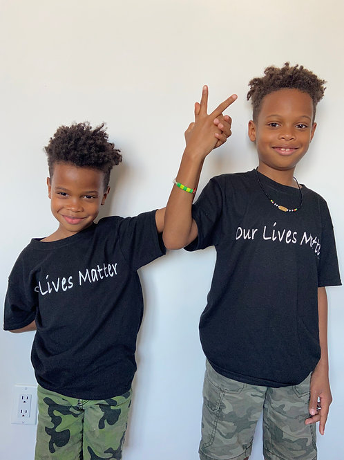"""OUR LIVES MATTER""kids sizes"