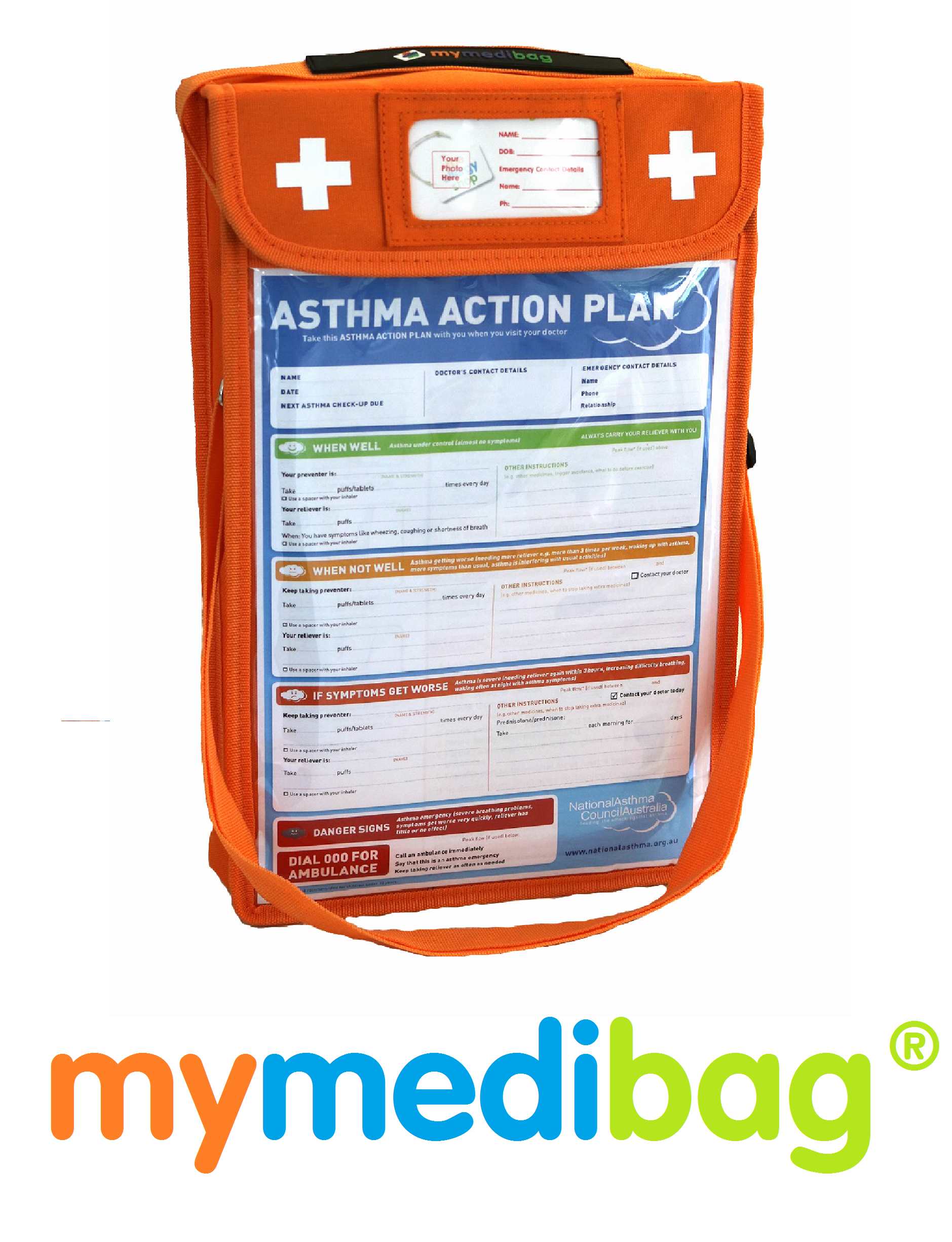 Mymedibag A4 Asthma Action Plan