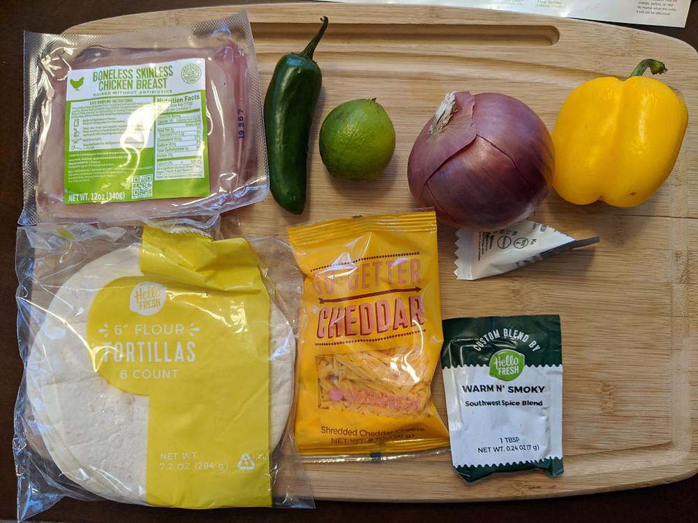 Chicken cheddar fajitas ingredients