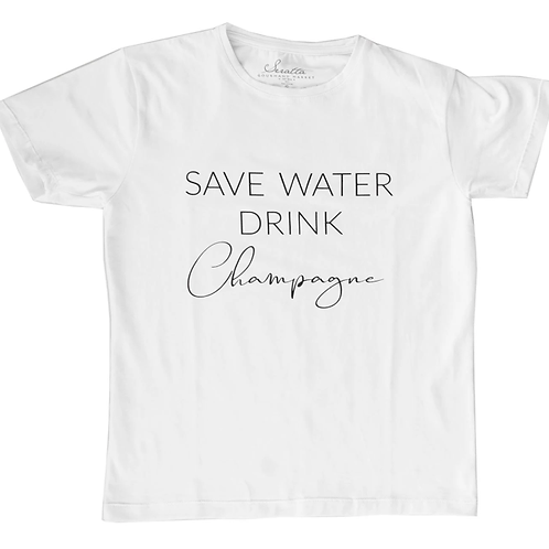 Camiseta Hombre - SAVE WATER DRINK Champagne