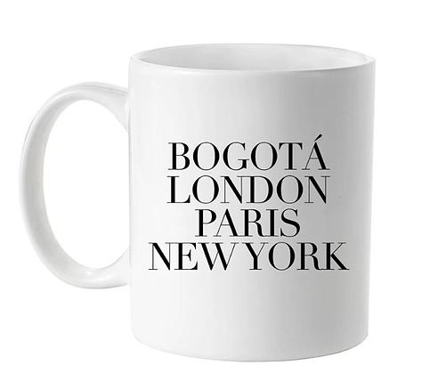 Mug Bogotá, London, Pairs, New York