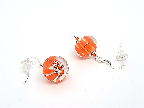 "Boucles d'oreilles ""Joy"" en verre de Murano orange"