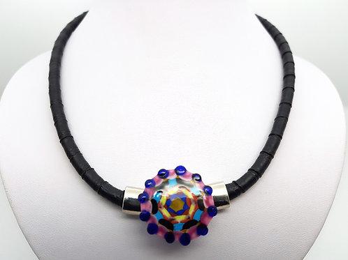 Collier Mandala multicolore en verre de Murano