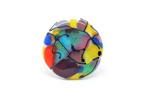 """Bague """"Arlequin"""" en verre de Murano multicolore"""