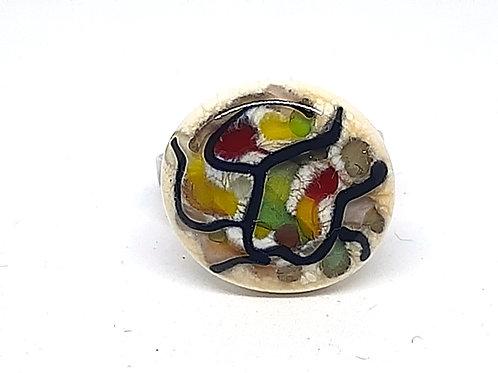 """Bague """"Faenza"""" en verre de Murano multicolore"""