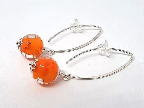 "Boucles d'oreilles oranges ""Midynia"" en verre de Murano"