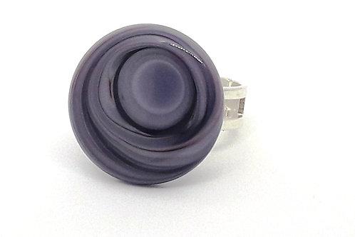 """Bague réglable """"Oeil du cyclone"""" violet"""