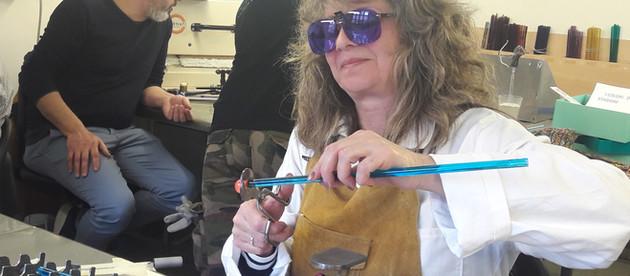 2ème stage de filage de verre à Murano...