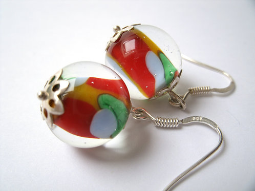 """Boucles d'oreilles multicolores """"Arlequin"""""""