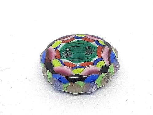 Bouton multicolore en verre de Murano