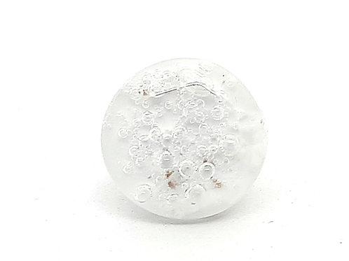 """Bague """"Effervescence"""" réglable blanche à bulles"""