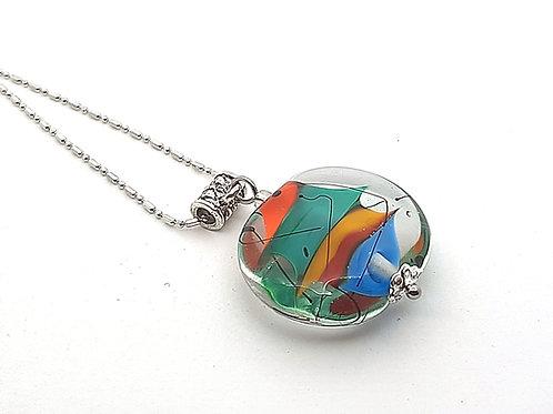 """Pendentif """"Mirage"""" multicolore en verre de Murano"""