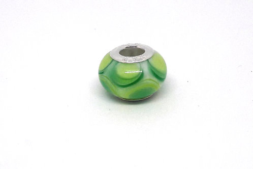 Perle verte pour bracelet en verre de Murano