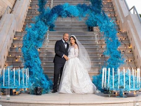 Inside Ola Khawajas Fairytale Blue Wedding and Look Details
