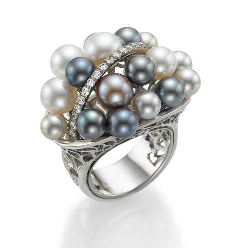 Ring  LP1462 Bouquet of pearls
