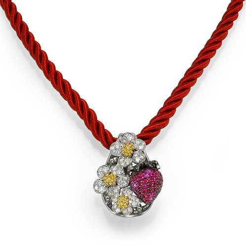 strawberry Necklace LP 3788 Diamonds and Ruby