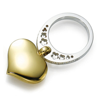 18K gold Ring LP 1793 Swinging Hearts,  Diamonds