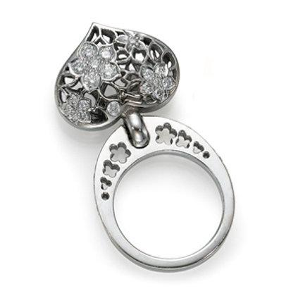 18K gold Ring LP 1770 Swinging Hearts,  Diamonds