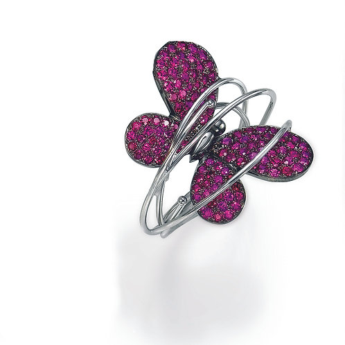 Ring  LP1454 Papillon ,  Rubies