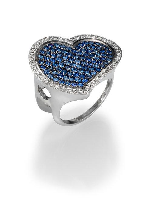 18K gold Ring LP 1365 Masquetade,  Diamonds andSapphires