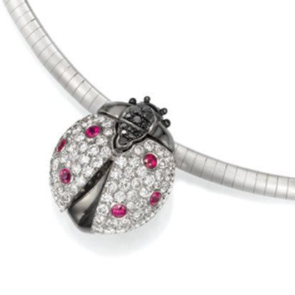 Pendant LP 3628 Coccinelle,  Diamonds and Rubies
