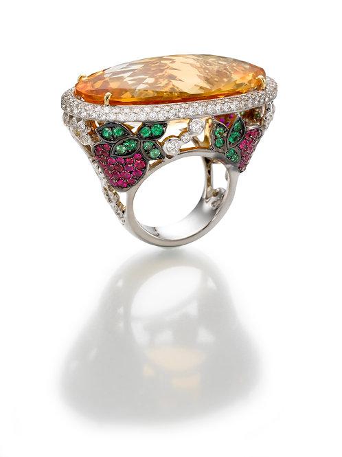 Ring  LP1951 Citrine , Rubies and Diamonds