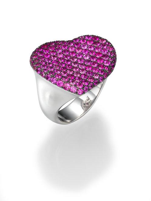 18K gold Ring LP 1933 Masquetade,  Pink Sapphire,