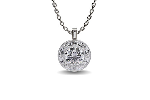 Diamond Solitaire Pendant , diamond solitaire necklace.