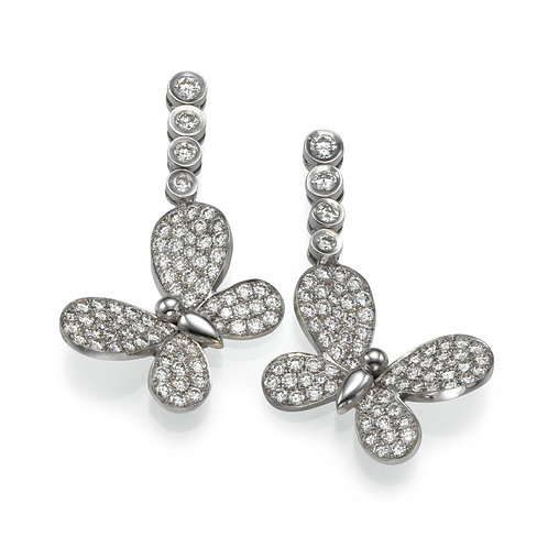 Earring  LP 2753 Papillon ,  Diamonds