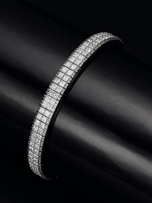 princess cut bracelet, tennis bracelet