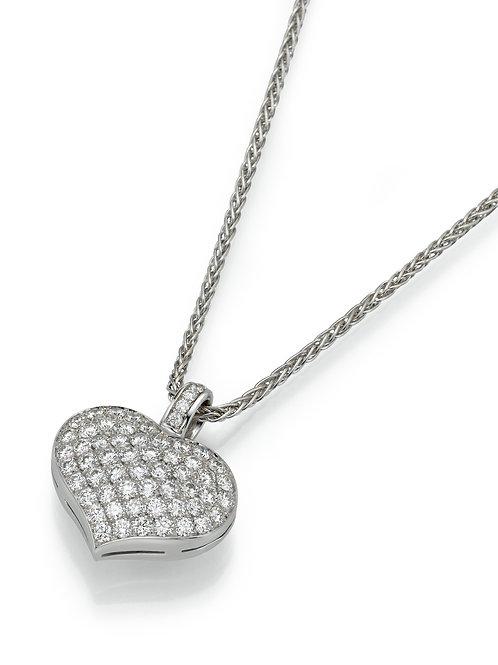 18K goldPendant LP 3887 Swinging Hearts,  Diamonds