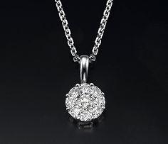 diamond pendant, diamond necklace