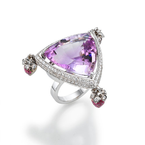 Ring  LP1571 Amethyst , Rubies and Diamonds