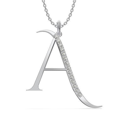 diamonds Initial pendant. Letter pendant