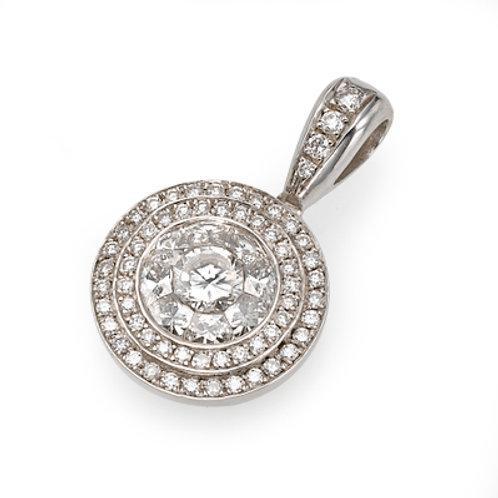Diamond Solitaire Pendant , diamond solitaire necklace. Round diamond pendant