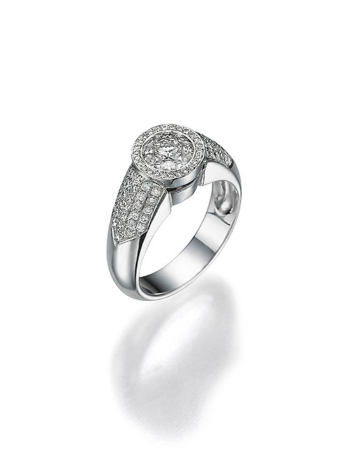 OctaR Solitaire Ring 1507  Round shape