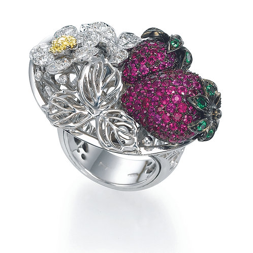 Ring  LP1524 Strawberry , Rubies and Diamonds