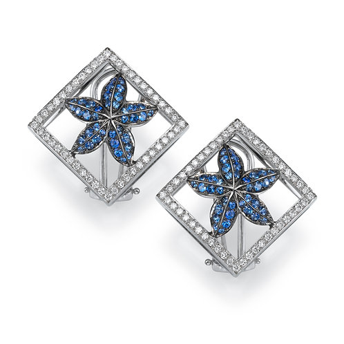 Earrings LP 2750 Coral Reef ,  Diamonds and Sapphire
