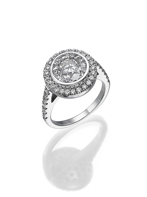 OctaR Solitaire ring 3001 Baguettes