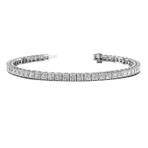 princess cut Diamonds tennis bracelet, princess tennis bracelet
