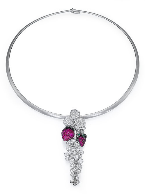strawberry Necklace LP 3790Diamonds and Ruby