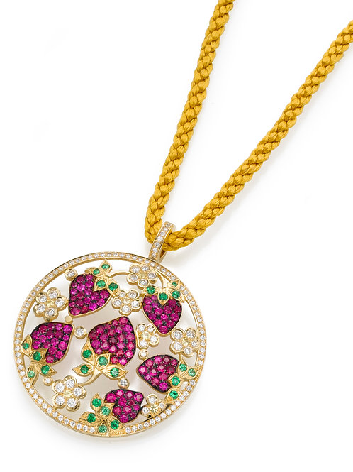 strawberry Necklace LP 3326 Diamonds and Ruby