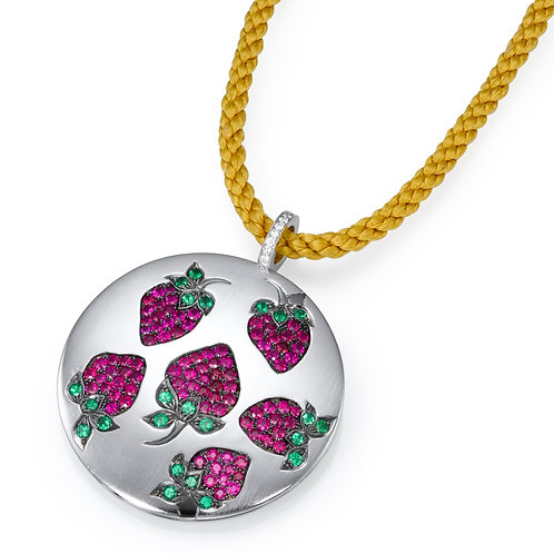 strawberry Necklace LP 3329 Diamonds and Ruby