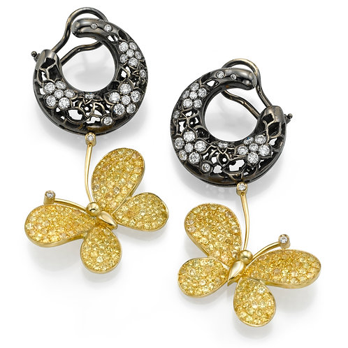 Earrings LP 2720 Intima ,  Diamonds and Yellow Sapphire