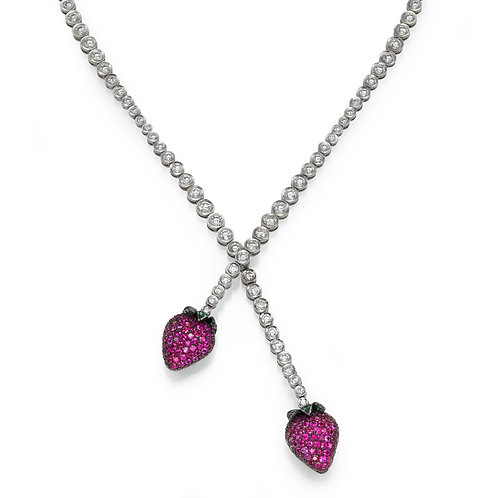 strawberry Necklace LP 3843 Diamonds and Ruby